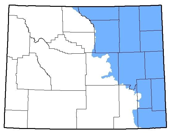 Map of the Great Plains Toad territory